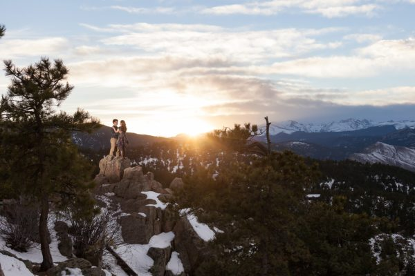 Wade and Courtney's Belated PhotoDate | Adventurous Boulder Engagement Photos