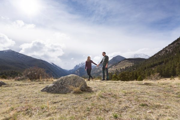 Rocky Mountain National Park Engagement | Aly and Sam's Mountain PhotoDate