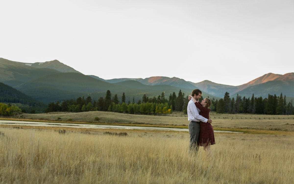 Sarah and Erik's Kenosha Pass Engagement | Adventurous Mountain Biking PhotoDate