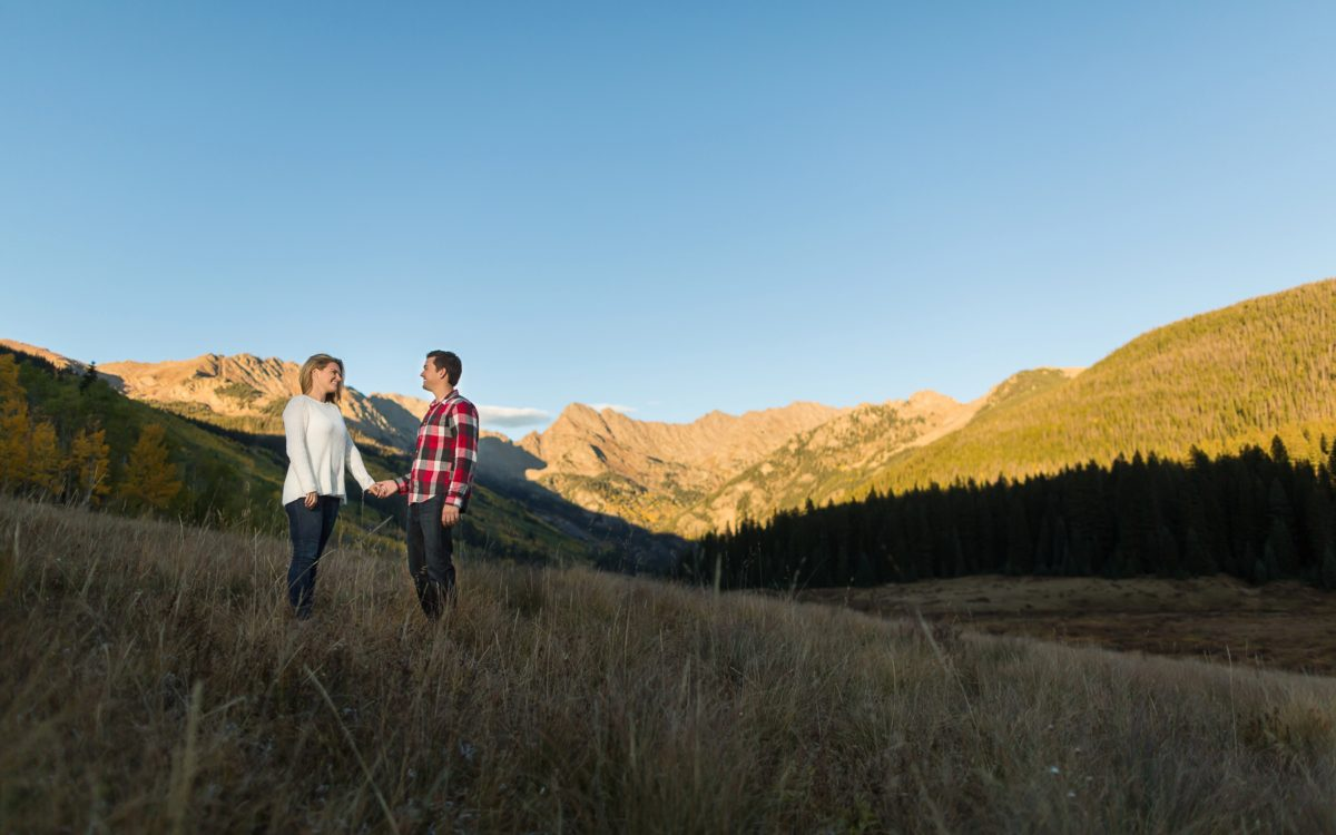 Lauren and Karsten's Vail Fall Engagement | Piney Lake PhotoDate