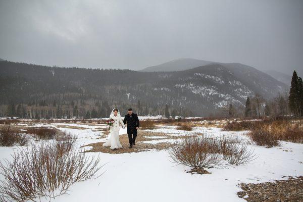 Kirsten and Kurt's Marys Lake Lodge Winter Wedding   Estes Park Wedding Photography