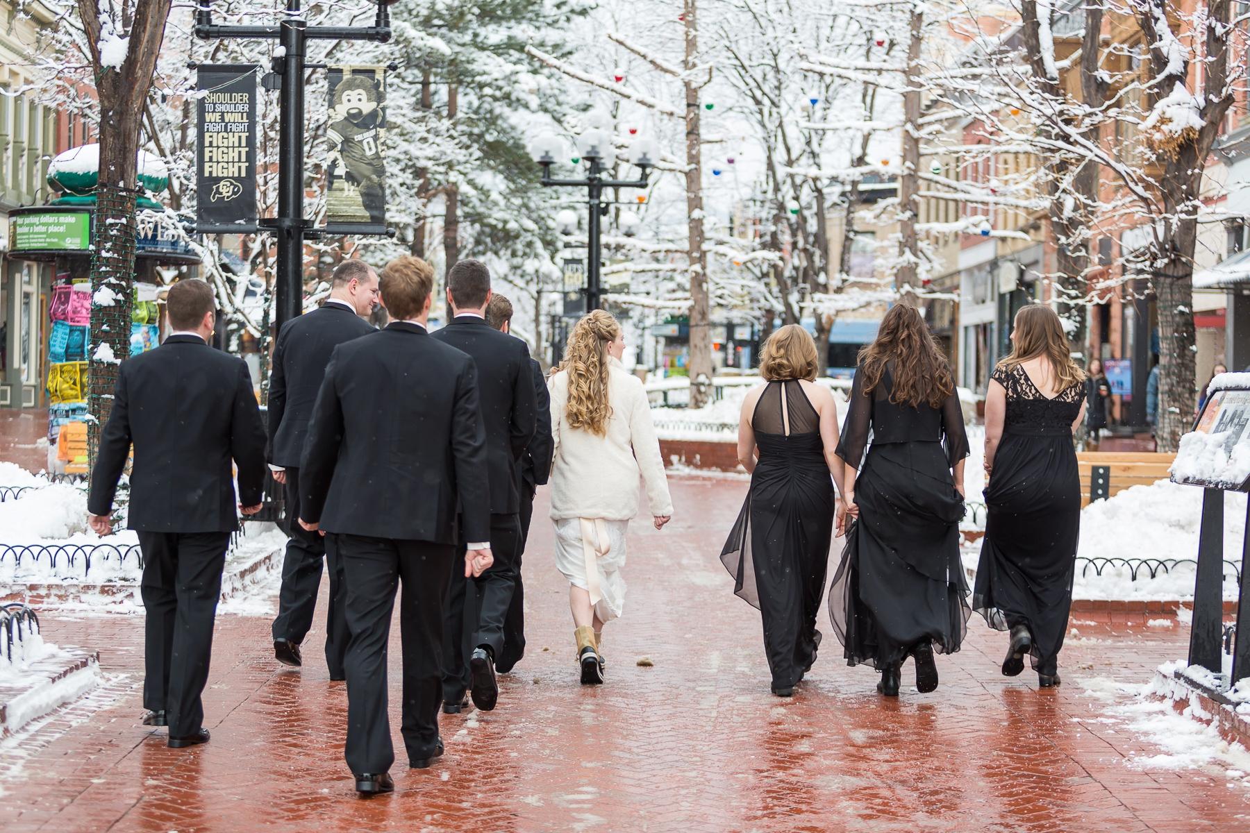 Boulder winter wedding