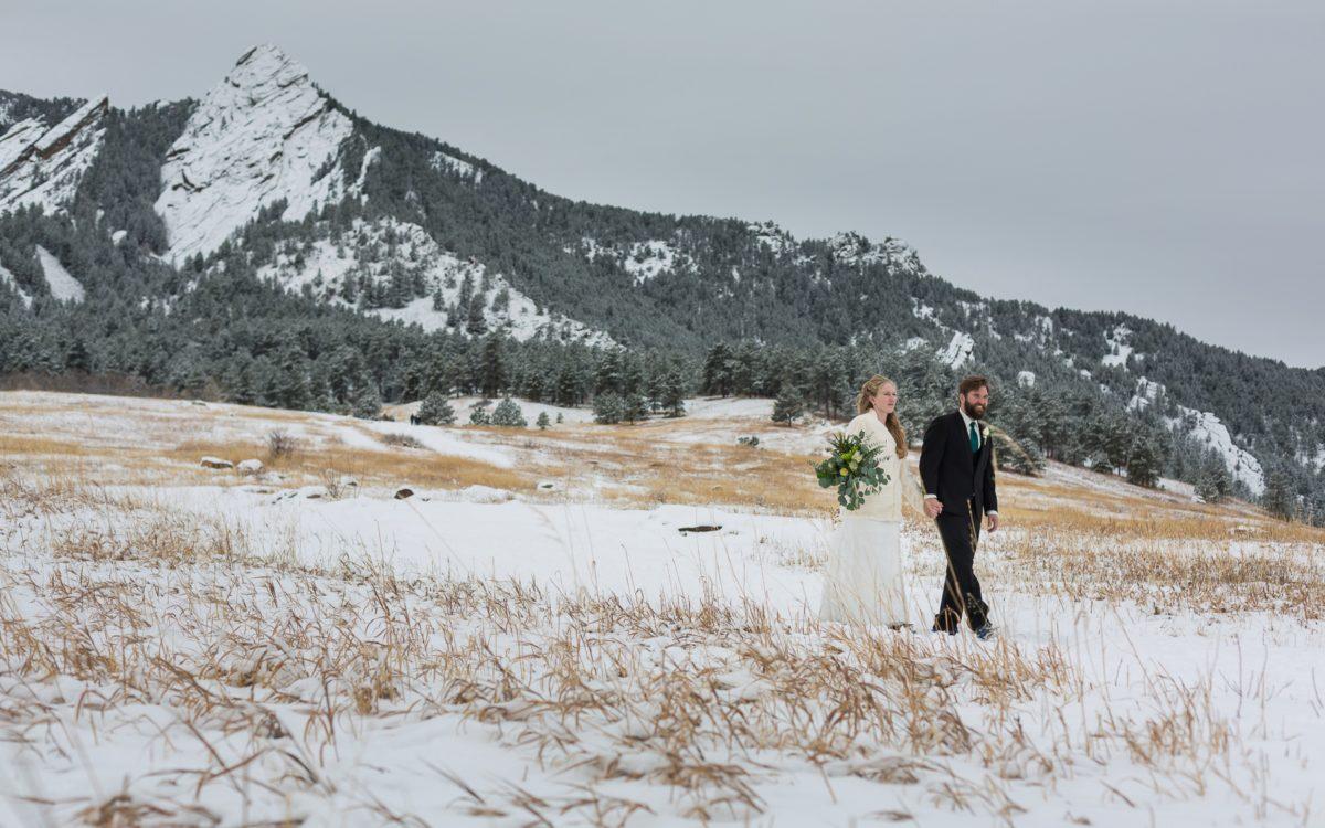 Natalie and Rick's Boulder Winter Wedding | Rembrant Yard