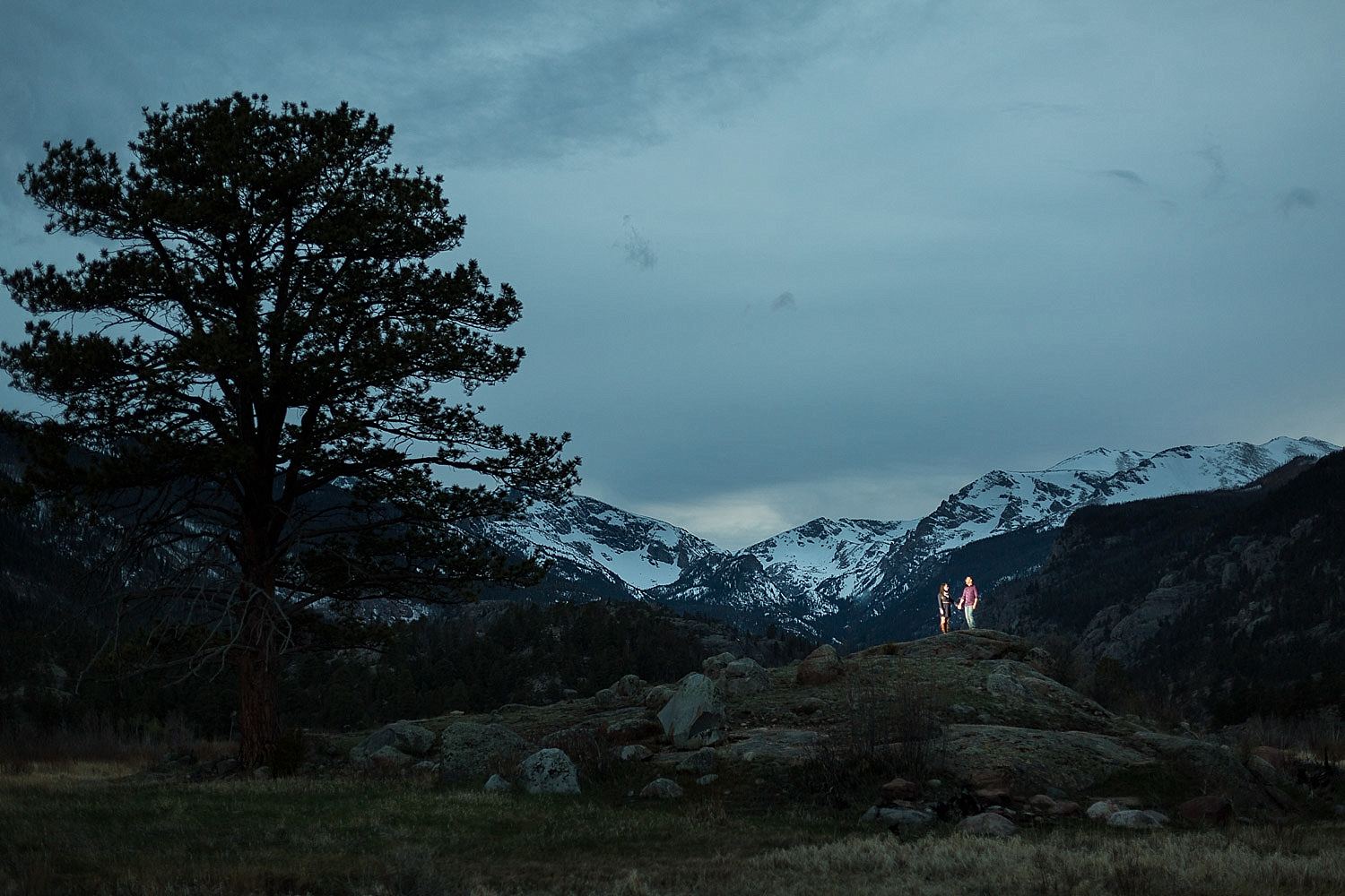 rocky mountain national park engagement photo