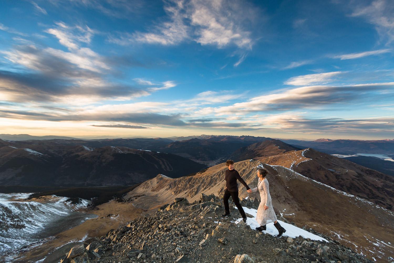 breckenridge mountaintop elopement