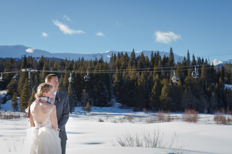 ski mountain wedding breckenridge