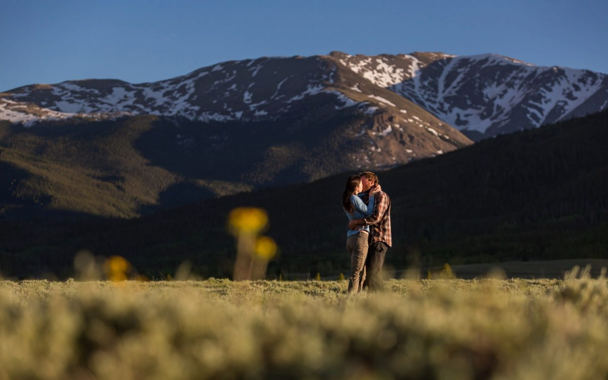 Carly and Bryce's Leadville Colorado Engagement