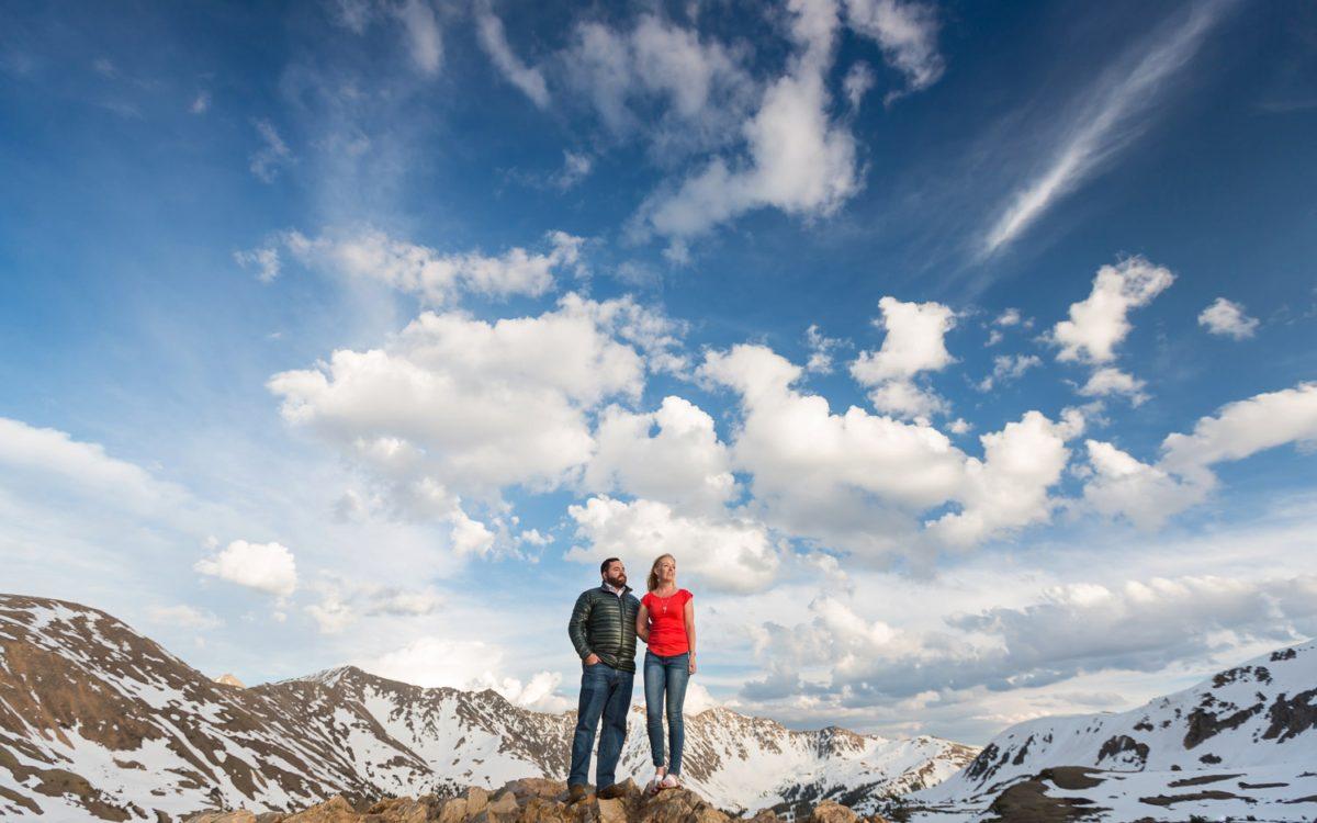 Stephanie and Solomon's Loveland Pass Colorado Mountain Engagement