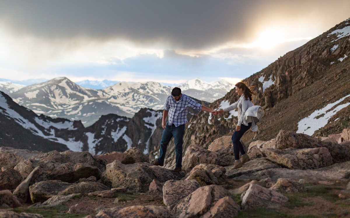 Mt Evans Colorado Mountain Engagement Shoot | Ayme and Sam