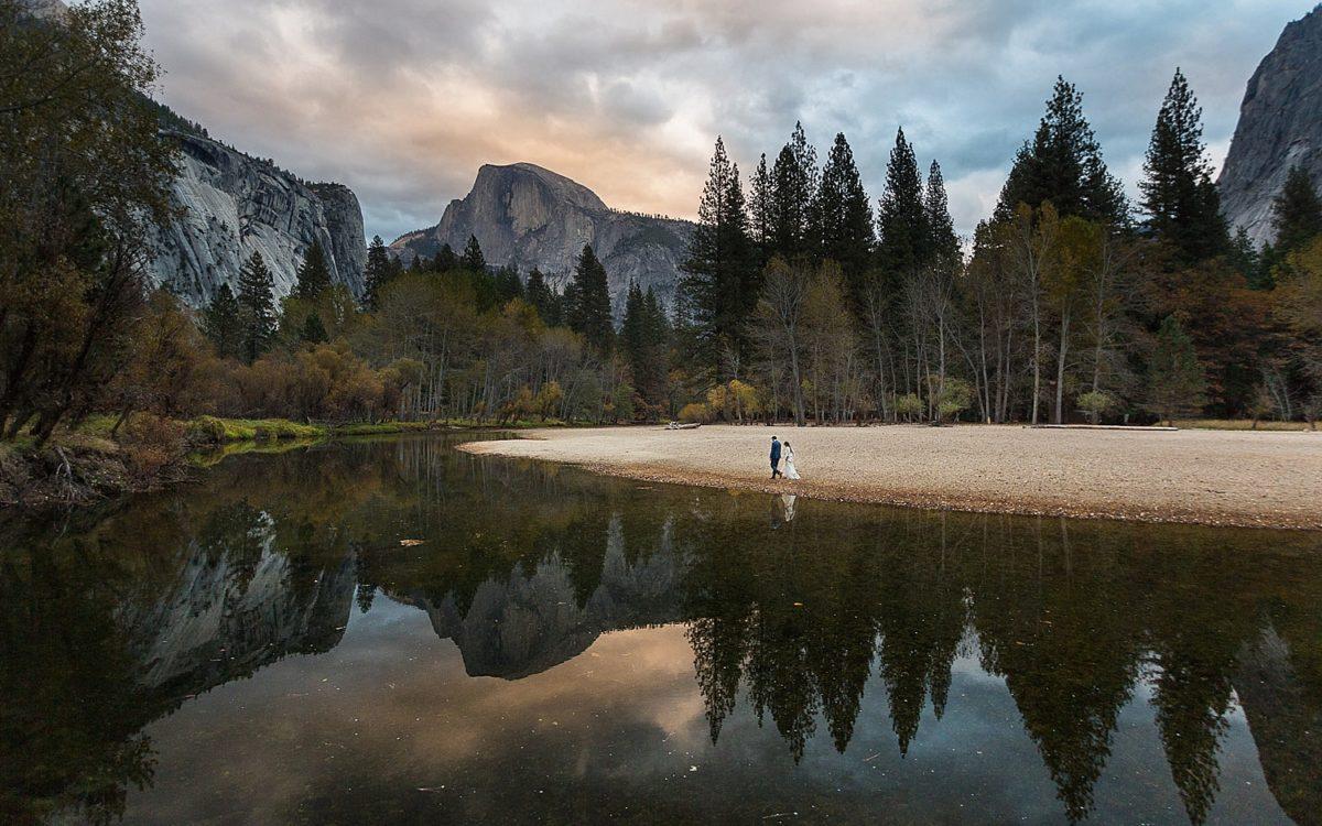 Majestic Yosemite Hotel and Yosemite Chapel Wedding | Michael and Ruby Ann