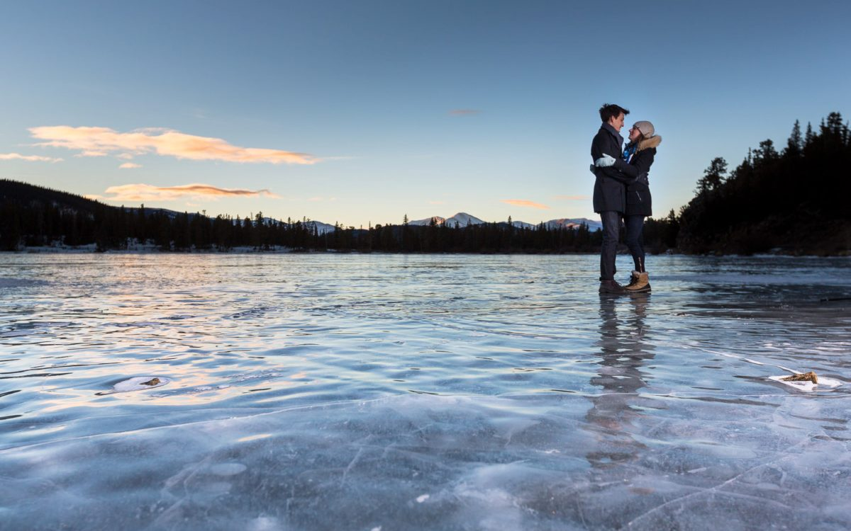 Snowy Colorado Mountain Engagement | Allie and Scotty in the Colorado Rockies