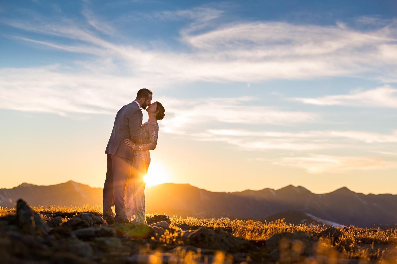 adventurous colorado mountain wedding photographers