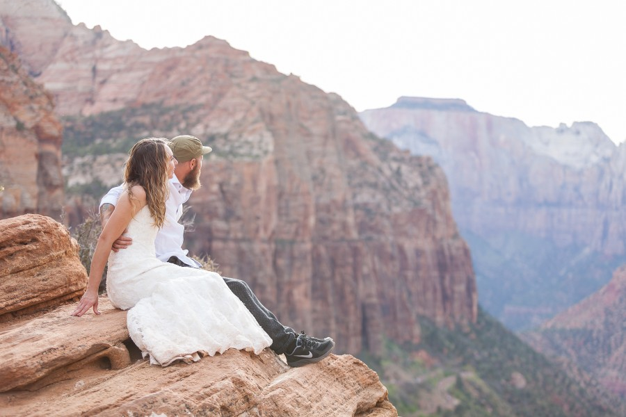 Zion National Park Wedding | Intimate Zion National Park Wedding Gina And Bob S Zion Elopement