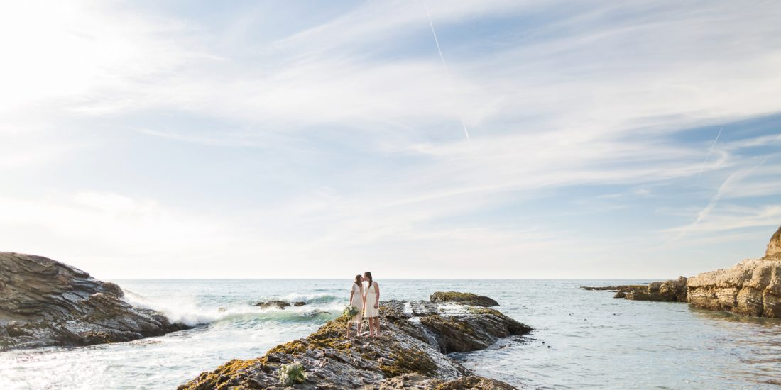 Hold Onto Your Hats For Courtney And Lindsay S Montana De Oro Ceremony Morro Bay Reception This Day Took Place At One Of Our Favorite Beaches These