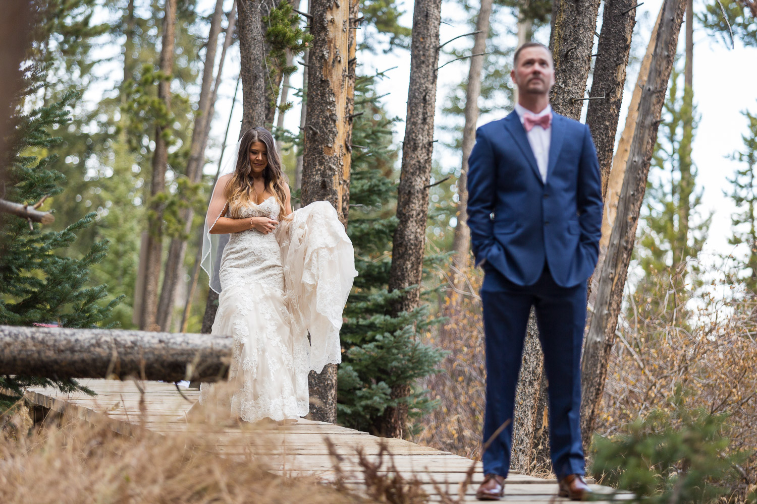 Sevens Breckenridge Wedding First Look