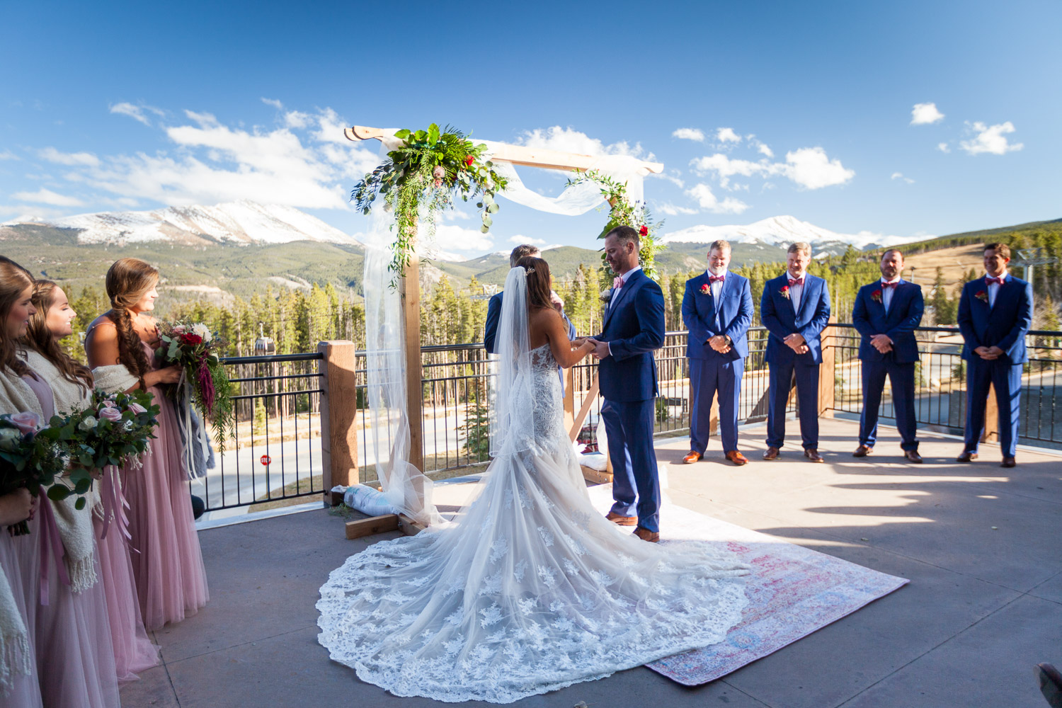 Sevens Breckenridge Wedding Ceremony With Mountain Views