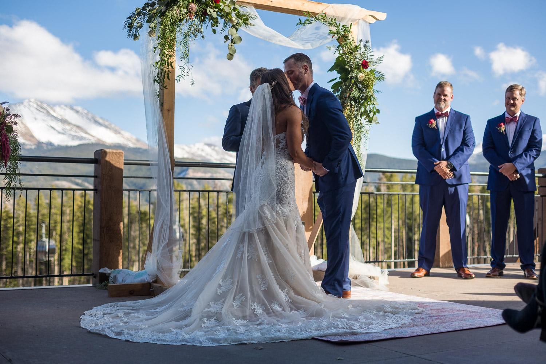 Sevens Breckenridge Wedding Ceremony With Mountain Views