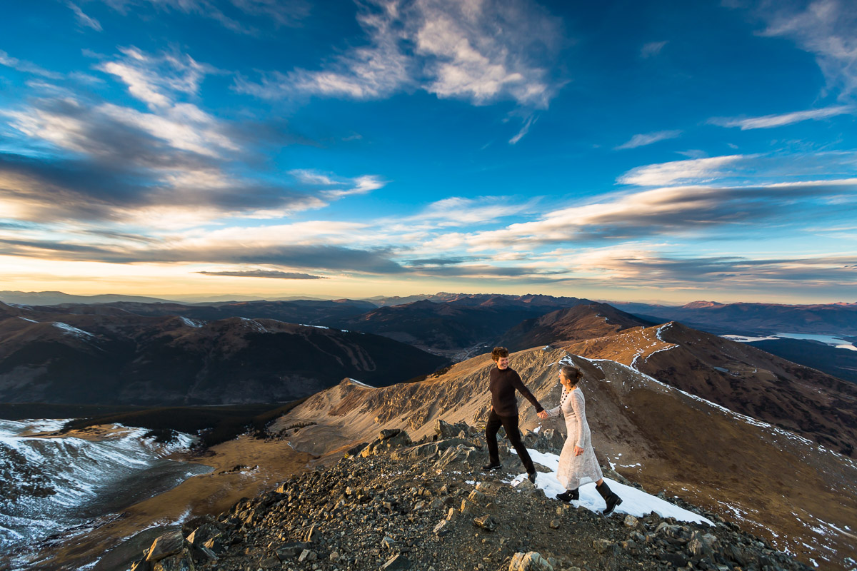 adventurous Colorado mountain wedding photographers breckenridge wedding