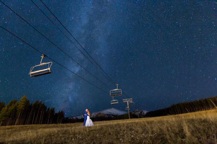 adventurous Colorado mountain wedding photographers star photo