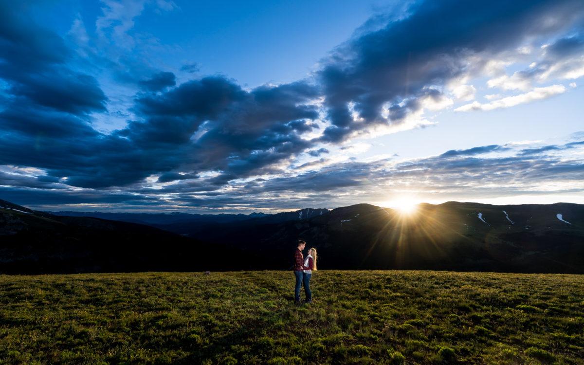 Sunrise Breckenridge Engagement Photos | Lauren and Craig